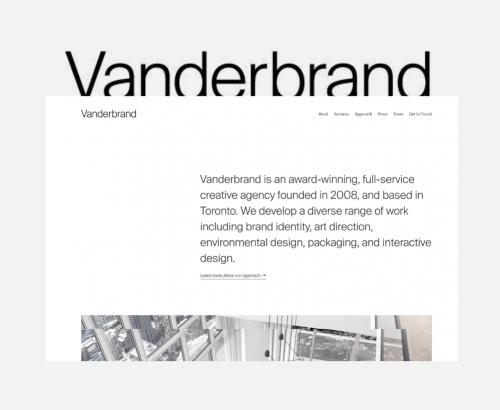 Vanderbrand - Custom website design for marketing agencies