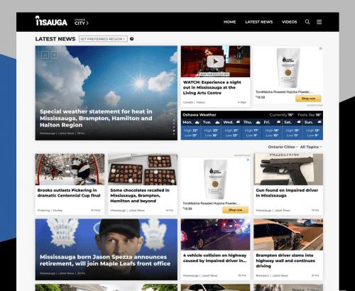 insauga - Custom Toronto Web Design