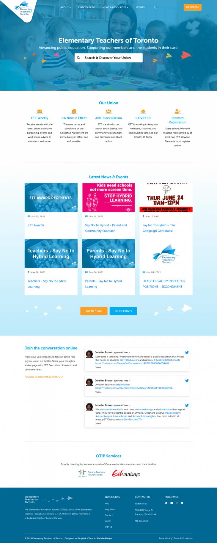 Toronto Web Design on desktop image